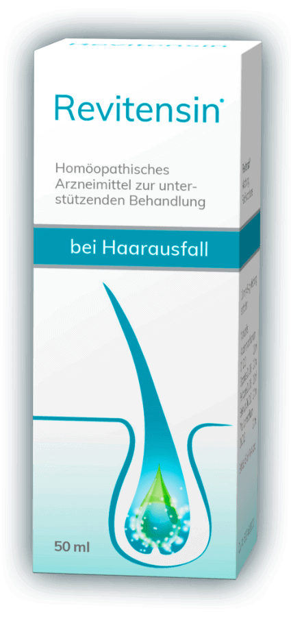 Rezeptfreies Arzneimittel Revitensin zur unterstützenden Behandlung bei Haarausfall